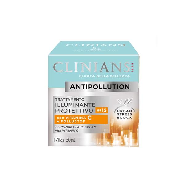 Clinians Antipollution Fényesítő Arcápoló Krém C Vitaminnal