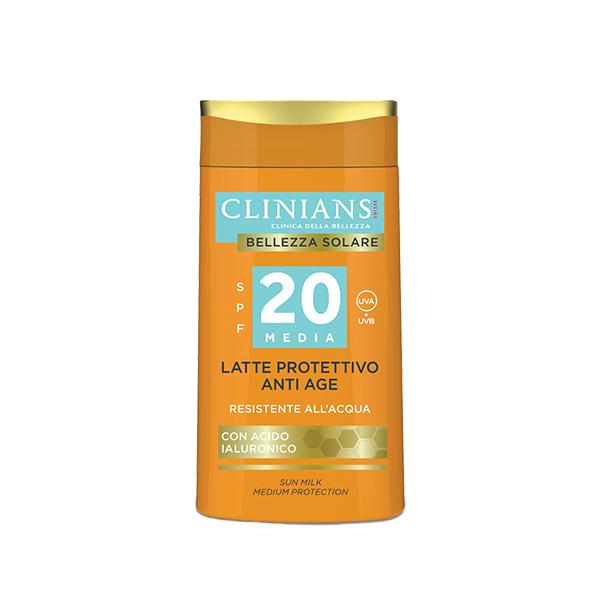 Clinians Bellezza Solare Öregedésgátló Napvédő Tej 20 Faktor