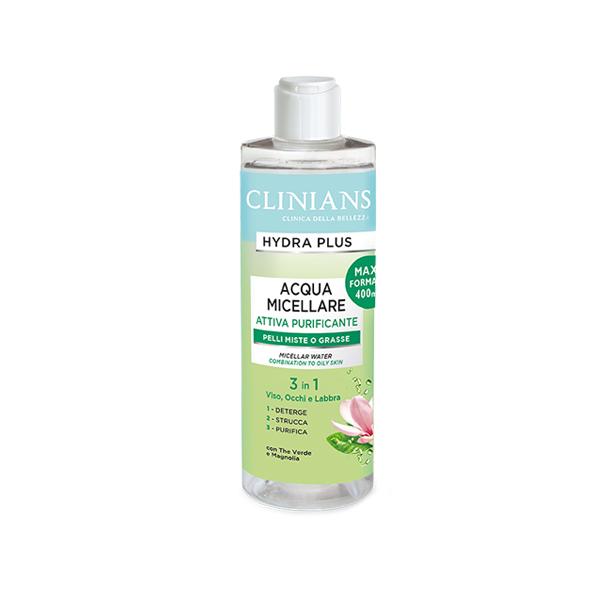 Clinians Hydra Plus Micellás Víz Normál és Zsíros Bőrre 400ml (8003510030316)