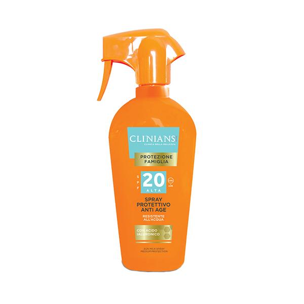Clinians Protezione Famiglia Családi Napvédő Spray 20 Faktor